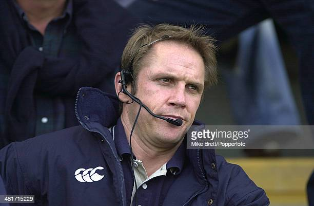 London Irish coach Brian Smith during the Guinness Premiership Rugby Union match between Northampton Saints and London Irish at Franklin's Gardens in...