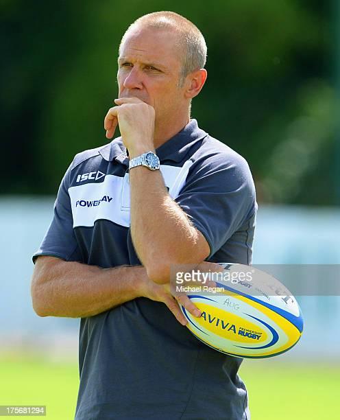 London Irish head coach Brian Smith looks on during the London Irish training session on August 6 2013 in Sunbury England
