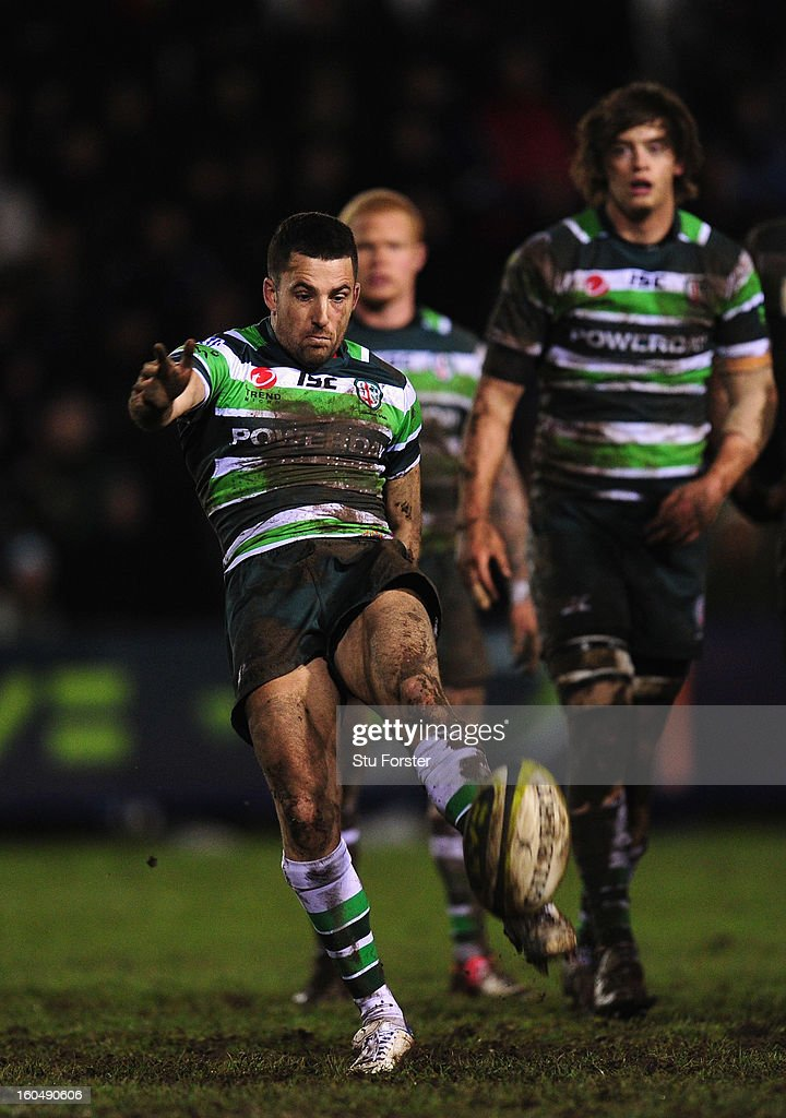 London Irish player <a gi-track='captionPersonalityLinkClicked' href=/galleries/search?phrase=Ian+Humphreys&family=editorial&specificpeople=672737 ng-click='$event.stopPropagation()'>Ian Humphreys</a> in action during the LV= Cup match between Cardiff Blues and London Irish at the Arms Park on February 1, 2013 in Cardiff, Wales.