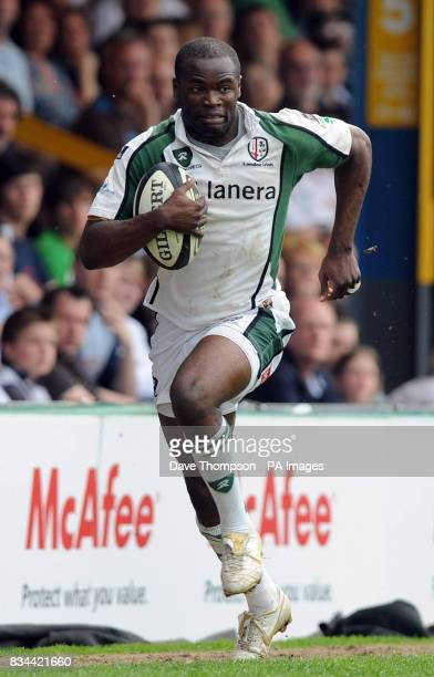 London Irish Topsy Ojo during the Guinness Premiership match at Edgeley Park Sale
