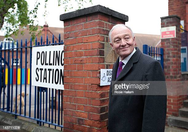 London Labour Mayoral candidate Ken Livingstone arrives to cast his vote in the London Mayoral and local elections at his local polling station Mora...