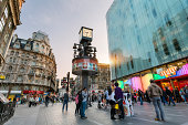 London, Leicester Square at Sunset
