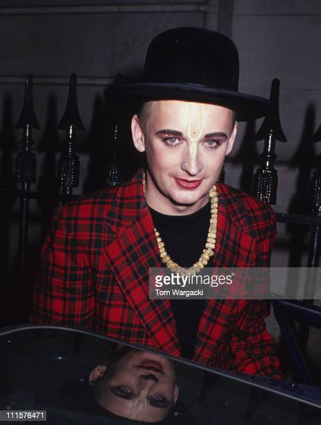 London May 1982 Boy George at Grosvenor House Hotel for the 'Rainforest Ball'