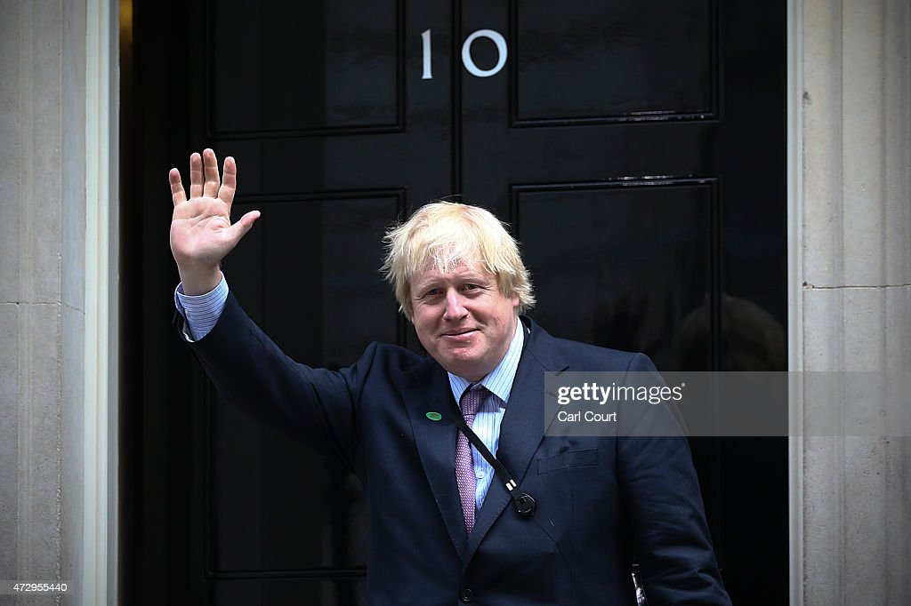 London Mayor and MP for Uxbridge and South Ruislip, <a gi-track='captionPersonalityLinkClicked' href=/galleries/search?phrase=Boris+Johnson&family=editorial&specificpeople=209016 ng-click='$event.stopPropagation()'>Boris Johnson</a>, arrives at Downing Street on May 11, 2015 in London, England. Prime Minister David Cameron continued to announce his new cabinet with many ministers keeping their old positions.