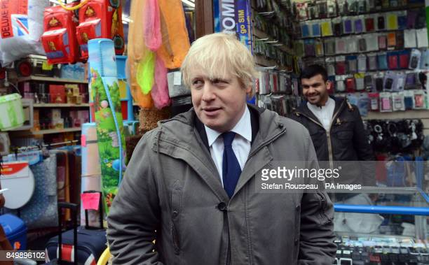 London Mayor Boris Johnson on the streets of Hackney as he joins members of the Dalston Safer Neighbourhood scheme in Hackney east London on their...