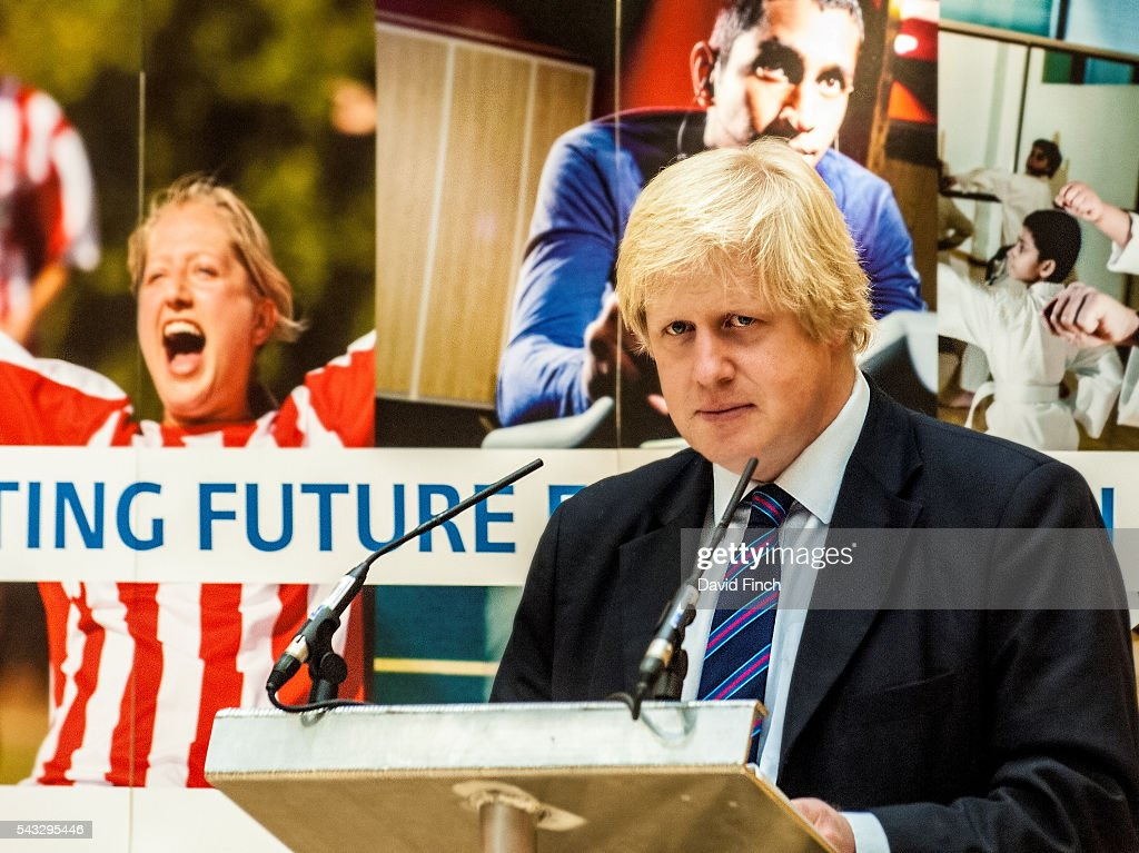 London Mayor, <a gi-track='captionPersonalityLinkClicked' href=/galleries/search?phrase=Boris+Johnson&family=editorial&specificpeople=209016 ng-click='$event.stopPropagation()'>Boris Johnson</a>, outlines his £30m post London Olympics sport investment programme during his 2009 Mayoral visit to the recently built Croydon Judo Club (28 April) in Croydon, Greater London, England.