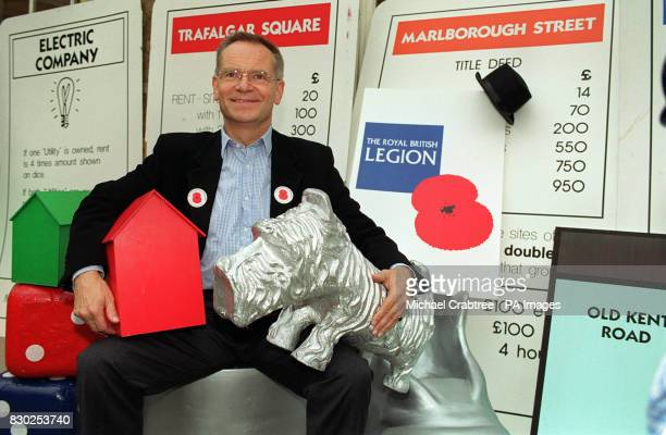 London Mayor candidate Jeffrey Archer poses for the media during a photocall in London to launch Monopoly Live 99 where teams race against the clock...