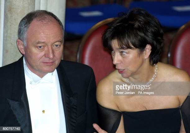 London Mayor Ken Livingstone and Deputy Mayoress Nicky Gavron arrive at London's Guild Hall for the Lord Mayor's Banquet