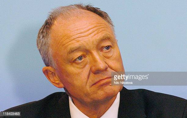 London Mayor Ken Livingstone briefs the world's media about the terrorist attacks in London that took place on Thursday July 7 2005