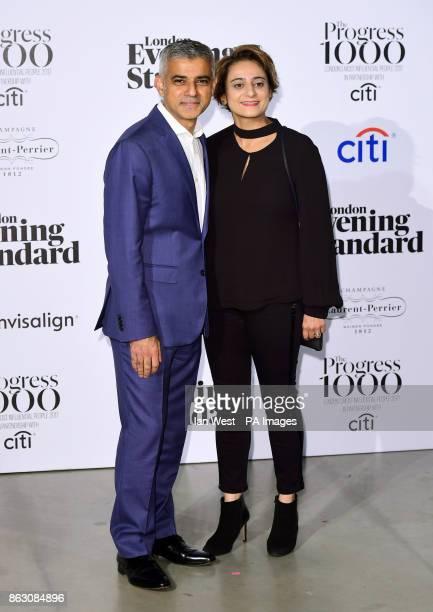 London Mayor Sadiq Khan and wife Saadiya Khan at the London Evening Standard's annual Progress 1000 in partnership with Citi and sponsored by...