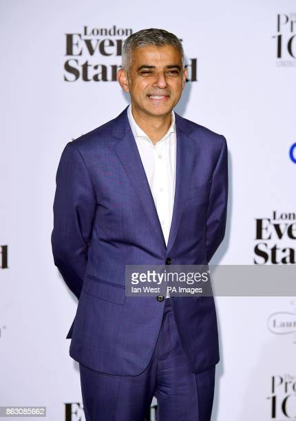 London Mayor Sadiq Khan at the London Evening Standard's annual Progress 1000 in partnership with Citi and sponsored by Invisalign UK held in London