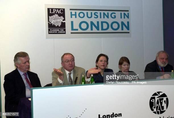 London Mayoral candidates Conservative Steve Norris Labour's Ken Livingstone Liberal Democrat Susan Kramer and Labours' Glenda Jackson and Frank...
