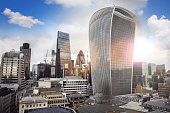London modern skyline - growth of the financial district