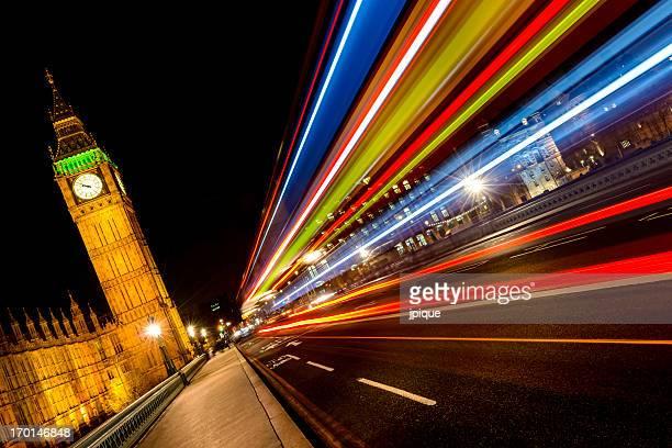 Londra notte paesaggio urbano e le luci