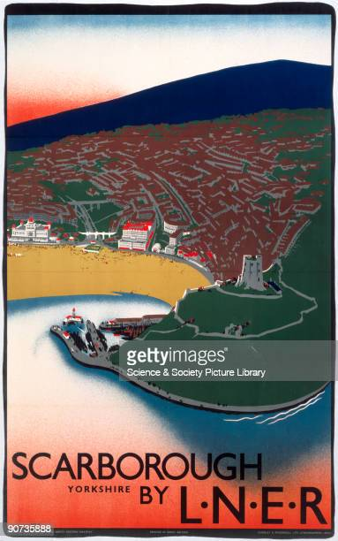 London North Eastern Railway poster advertising the North Yorkshire town of Scarborough Artwork by Tom Purvis