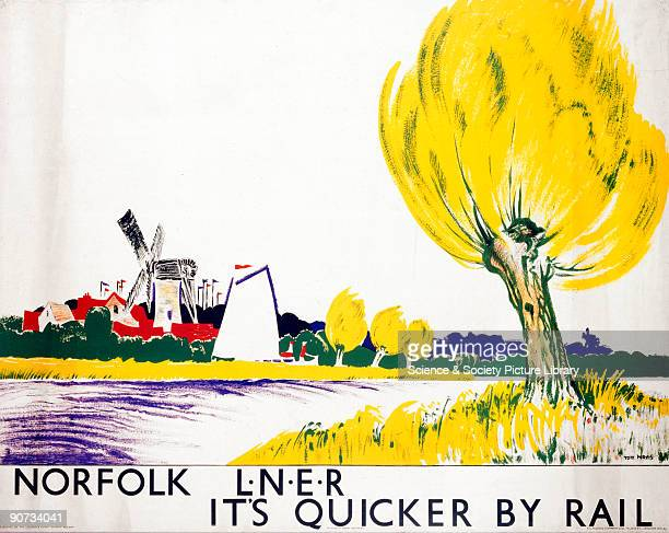 London North Eastern Railway poster Artwork by Tom Purvis