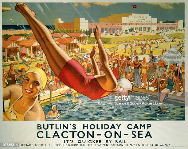 London North Eastern Railway poster 'The interwar years saw the rise of the holiday camp because the standard of living improved and families had...