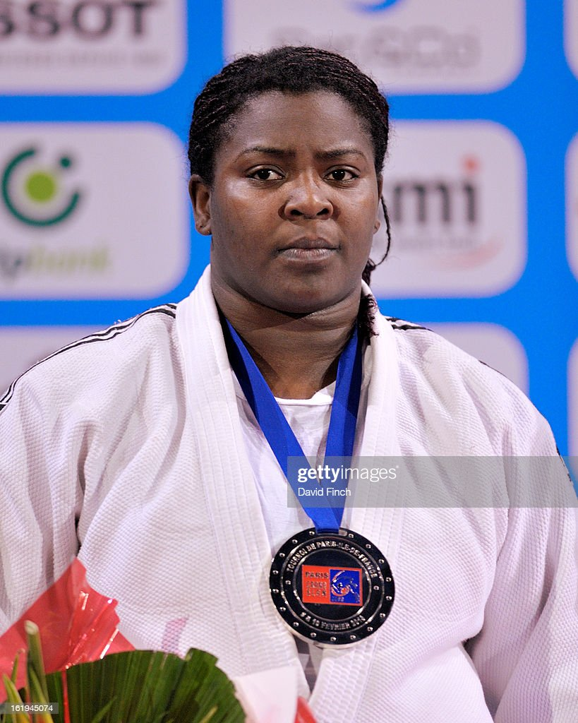 London Olympic champion, <a gi-track='captionPersonalityLinkClicked' href=/galleries/search?phrase=Idalys+Ortiz&family=editorial&specificpeople=5492242 ng-click='$event.stopPropagation()'>Idalys Ortiz</a> of Cuba here looking particularly unhappy, had to be content with the heavyweight silver medal at the Paris Grand Slam on day 2, Sunday, February 10, 2013 at the Palais Omnisports de Paris, Bercy, Paris, France.