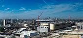 London Olympic Games urban regeneration site panorama.