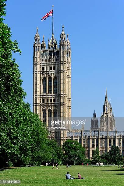 UK, London, Palace of Westminster, Victoria Tower