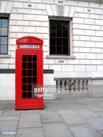 classic London phone booth