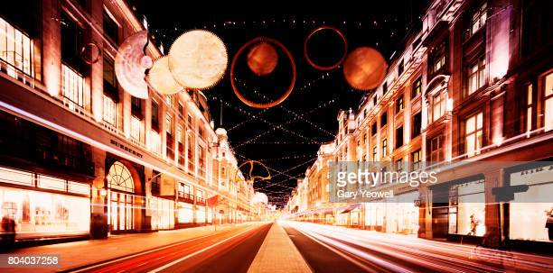London Regent Street at Christmas time