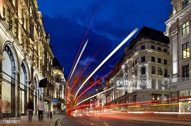 London. Regent street at night