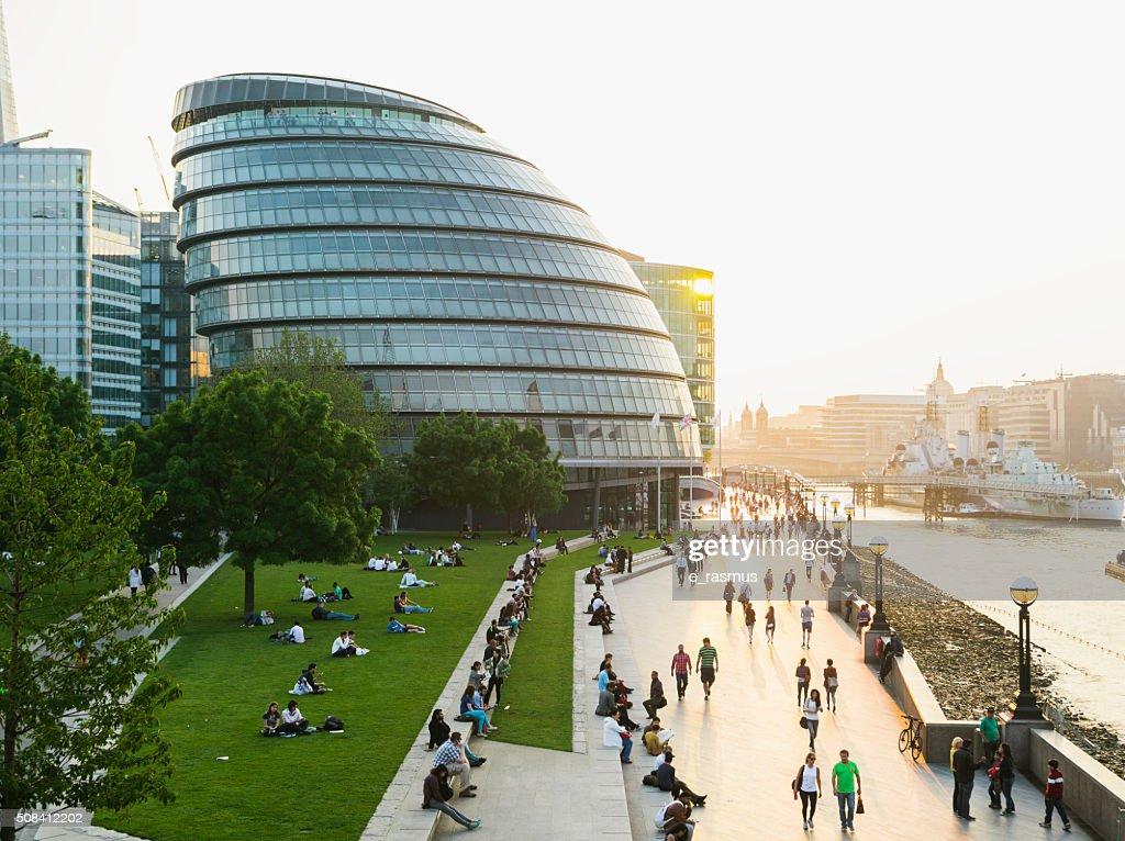 London Riverbank : Stock Photo