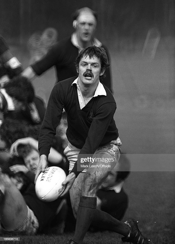 London Scottish scrum half Alan Lawson passes the ball