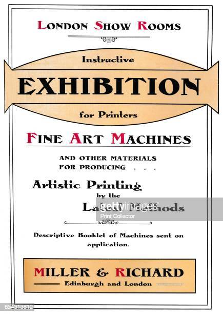 London Show Rooms Instructive Exhibition for Printers 1907 From The British Printer Vol XX [Raithby Lawrence Co Ltd London and Leicester 1907] Artist...