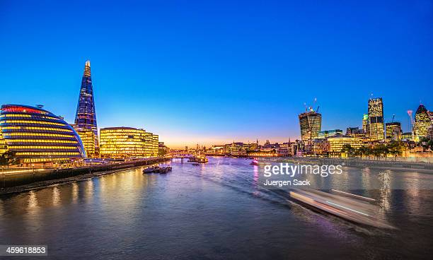 London Skyline and River Thames