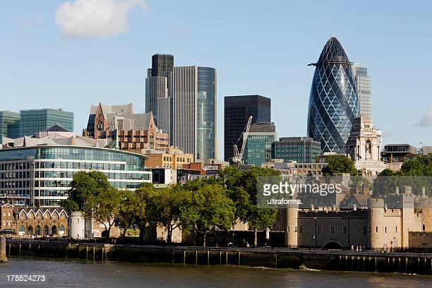 London skyline and view of the Thames