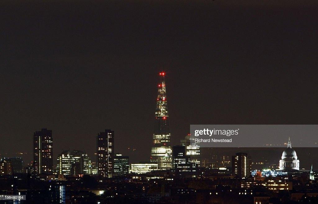 London Skyline at Night : Stock Photo