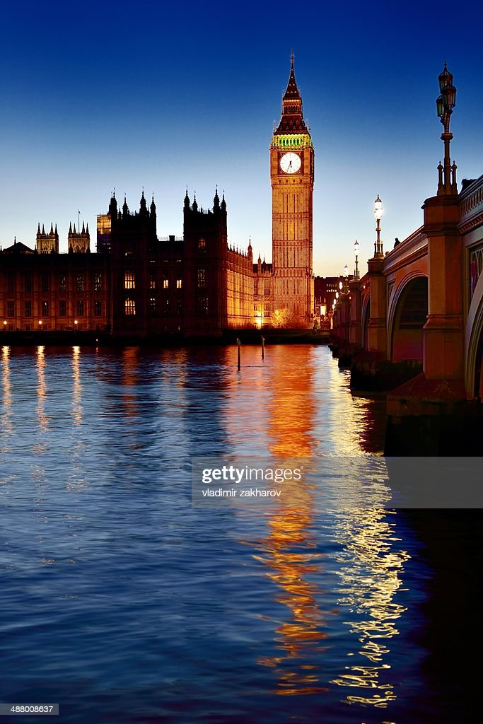 London skyline at sunset : Stock Photo