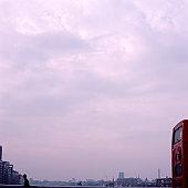 London skyline from bridge