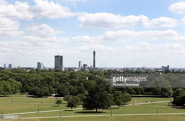 London skyline from Primrose Hill