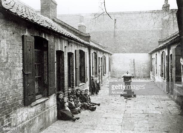 London Slums (b/w photo)