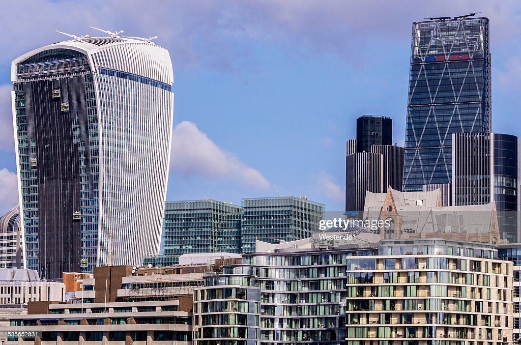 UK, London, Southwark, Financial district with Tower 42 and 20 Fenchurch Street