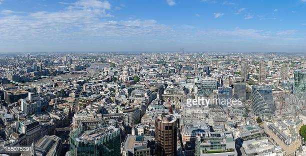 London, spectacular aerial view of the city