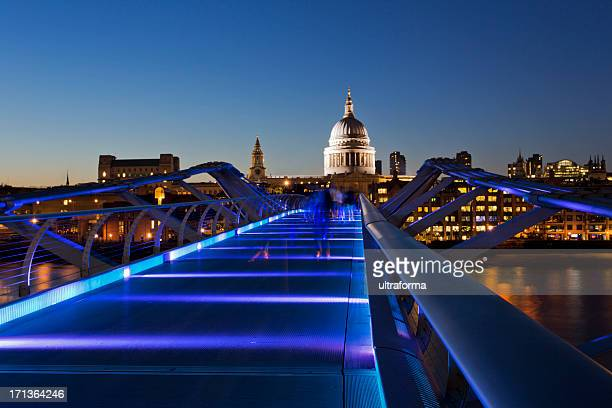 London - St Paul's Cathedral and Millenium Bridge