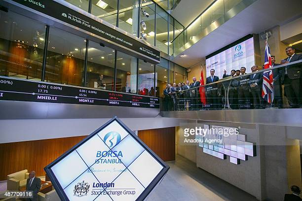 London Stock Exchange and Borsa Istanbul opening the market and launch their agreement to trade futures and options based on Turkeys bluechip BIST 30...
