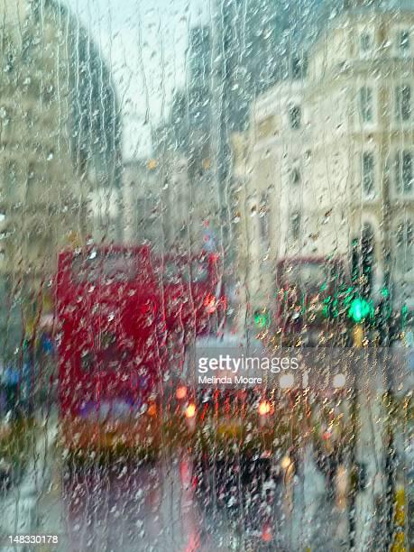 London street in rain