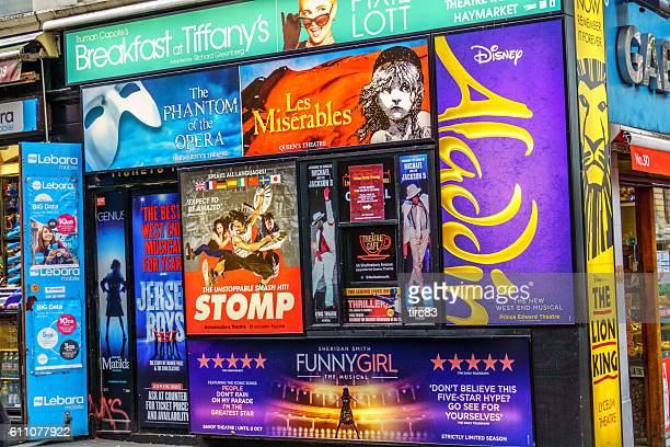 London street ticket booth in Theatreland district