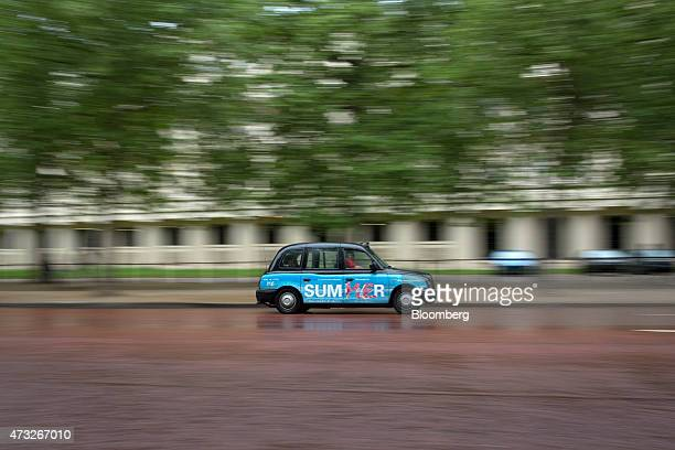 A London taxi cab drives along The Mall in London UK on Thursday May 14 2015 Data obtained by Bloomberg from Transport for London the transit...