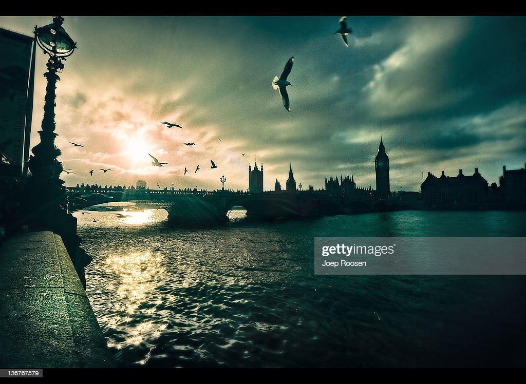 London Thames and westminister : Stock Photo