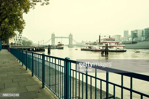 London Thames path looking east