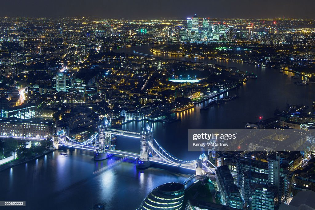 London - Tower Bridge and Canary Wharf