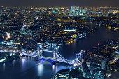London - Tower Bridge and Canary Wharf