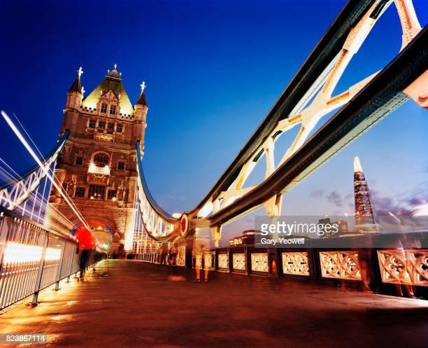 London Tower Bridge and Shard at dusk