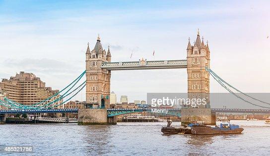 London Tower Bridge at River Thames